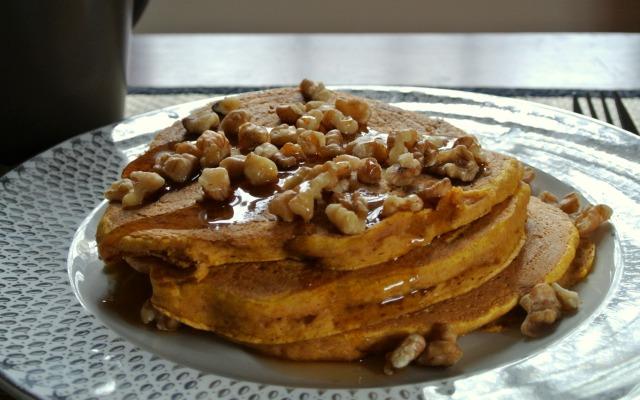 Pumpkin Spelt Pancakes