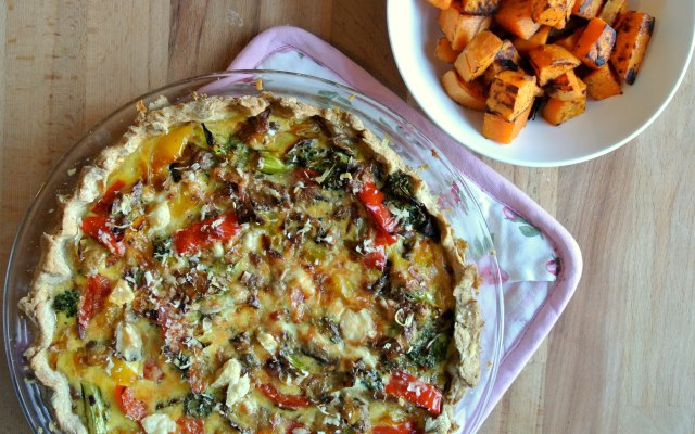 Vegetable Quiche with Sweet Potato Hashbrowns