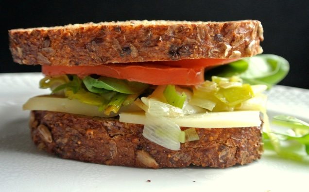 Leek and Oka Cheese Sandwich