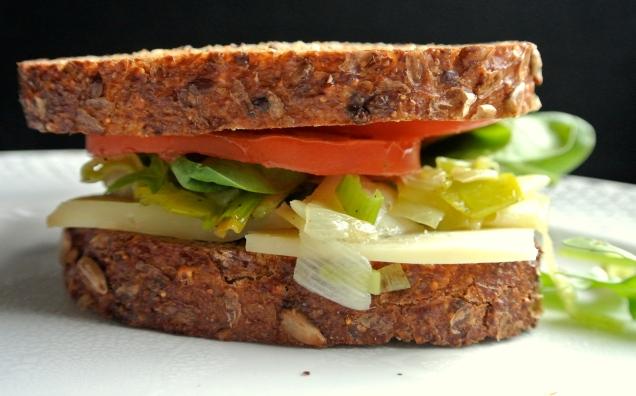 Leek and Oka Cheese Sandwich