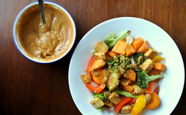 Peanut Sauce and Stir Fry